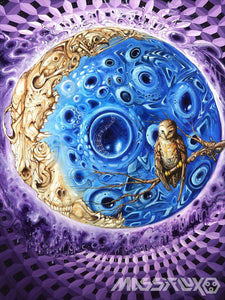 """Elder Moon""- Sublimation Tapestry by The Welch Brothers"
