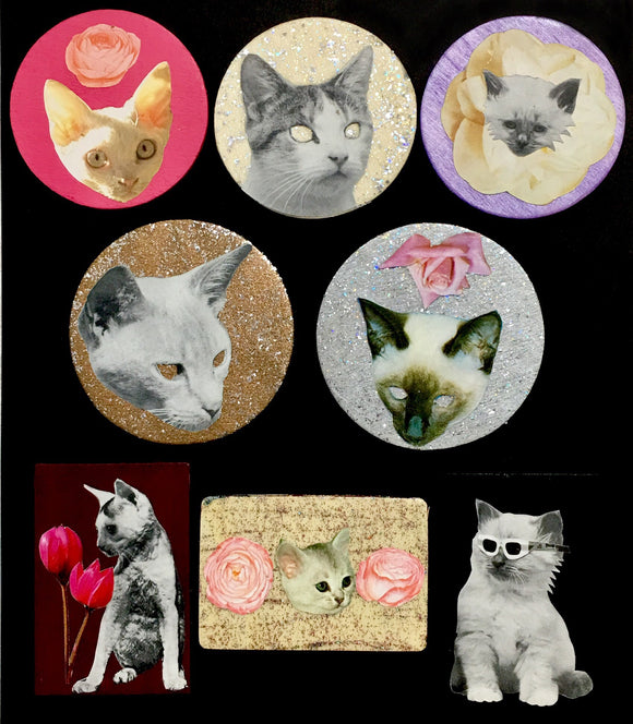 Meower Cat Magnets by Jacob Garvin