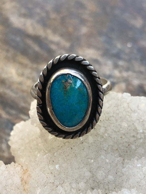 """Turquoise Mountain Shadow Box Ring"