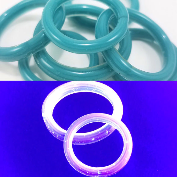 Aqua Nova | UV Reactive Rings | By Marni - Restock
