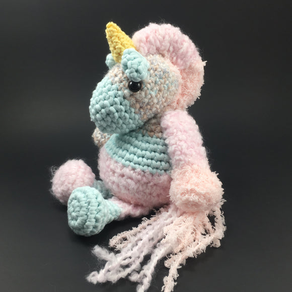 """Mr. Patches""-  Made to Order crochet Unicorn by YoungSayDay"