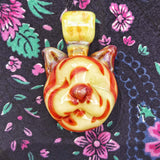 COLOR SHIFTING Glass Cat Pendant by Dusty Diamond Glass#2