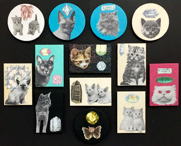 Crystal Cat Magnets by Jacob Garvin