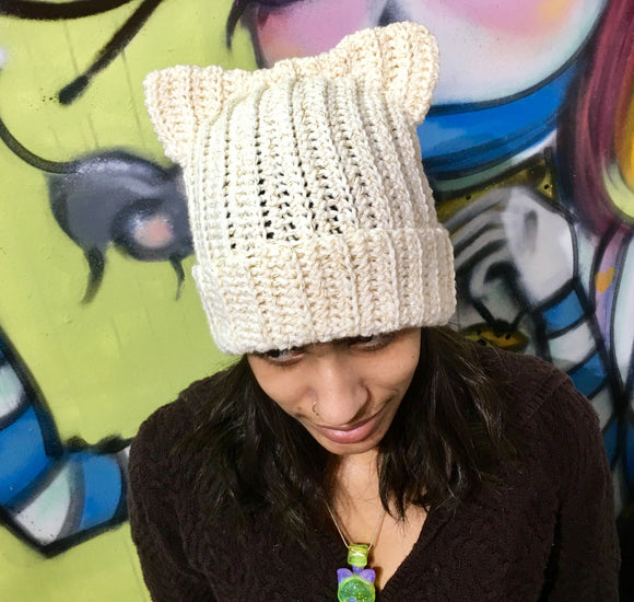 """I'm a Cat"" Golden Sparkle Beanie by YoungSayDay"