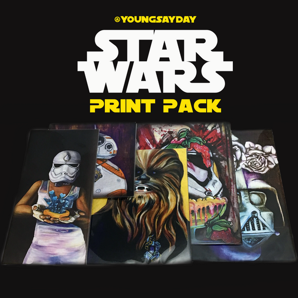 Star Wars Lil' Prints & Sticker Pack - Collectors Set by YoungSayDay