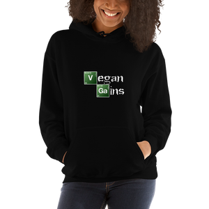 Vegan Women's Hoodie Vegan Gains Breaking Bad
