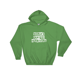 Vegan Women's Hoodie World's Okayest Herbivore
