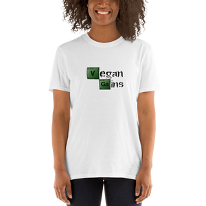 Vegan Women's T shirt Vegan Gains Breaking Bad