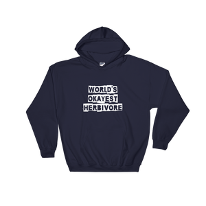 Vegan Men's Hoodie World's Okayest Herbivore