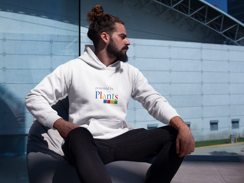 Vegan Men's Hoodie Powered by Plants