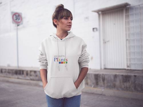 Vegan Women's Hoodie Powered by Plants