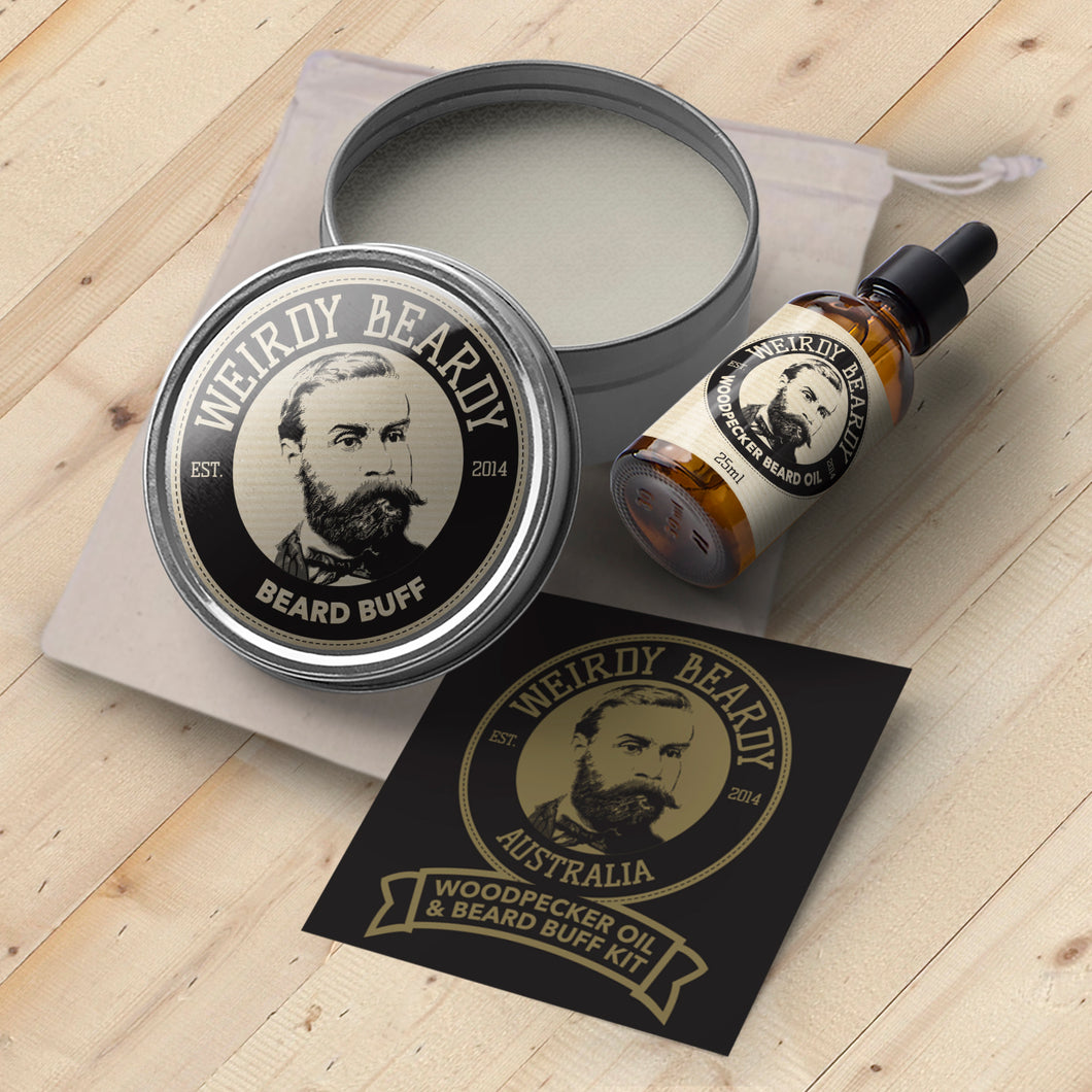 Woodpecker & Beard Buff Gift Pack