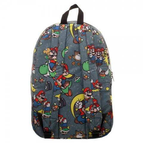 Snes Mario Sublimated Backpack - Masters Of Geek