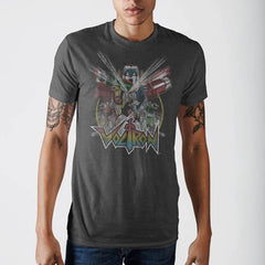 Voltron Mens Charcoal T-Shirt - Masters Of Geek