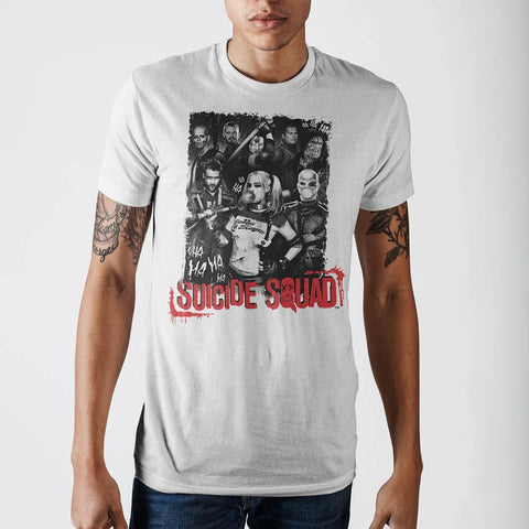 Suicide Squad Mens White T-Shirt - Masters Of Geek