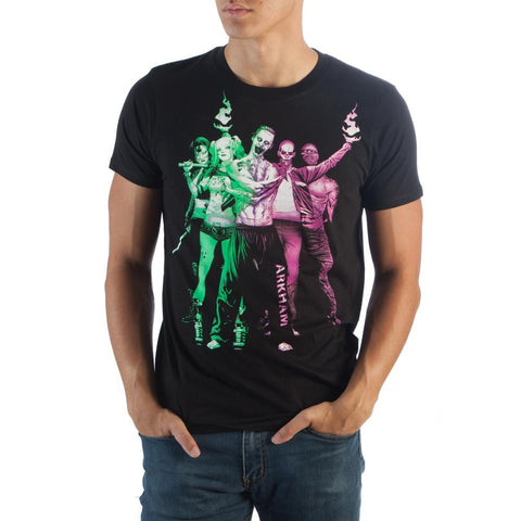 Suicide Squad Ppl/Grn Group T-Shirt - Masters Of Geek