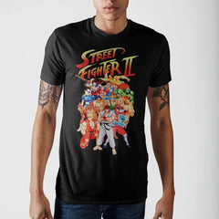 Street Fighter Character Group T-Shirt - Masters Of Geek