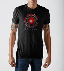 Justice League Cyborg Logo T-Shirt - Masters Of Geek