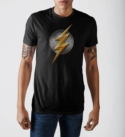 Justice League Flash Logo T-Shirt - Masters Of Geek