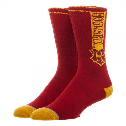 Harry Potter Hogwarts Vertical Text Crew Sock - Masters Of Geek