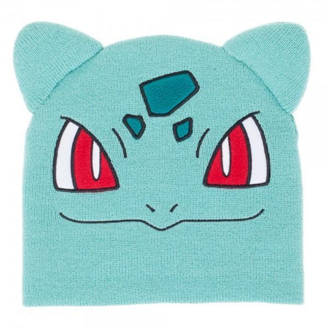 Pokemon Bulbasaur Big Face Knit Beanie - Masters Of Geek