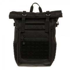 Call of Duty Black Military Roll Top Backpack w/ Laser Cuts - Masters Of Geek