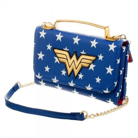 DC Comics Wonder Woman Inside Out Crossbody Wallet Clutch - Masters Of Geek