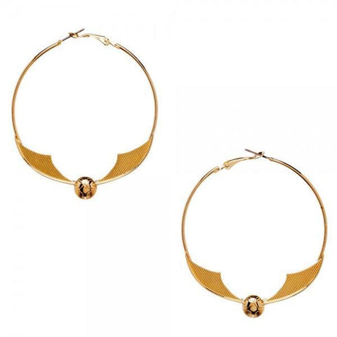 Harry Potter Snitch Hoop Earrings - Masters Of Geek