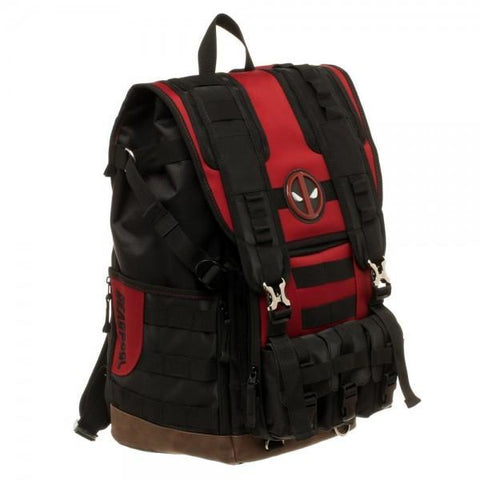 Marvel Deadpool Tactical Roll Top Backpack - Masters Of Geek