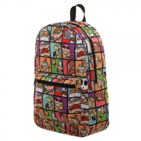 Nintendo Super Mario Villains Sublimated Backpack - Masters Of Geek
