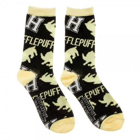 Harry Potter Hufflepuff Jrs Crew Socks - Masters Of Geek