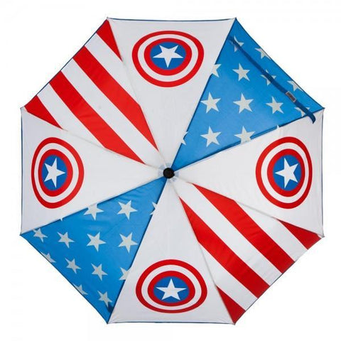 Marvel Captain America Panel Umbrella - Masters Of Geek