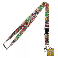 Nintendo Super Mario Bros. Question Block Lanyard - Masters Of Geek