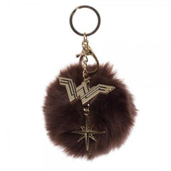 Wonder Woman Furry Pom Pom Handbag Charm - Masters Of Geek