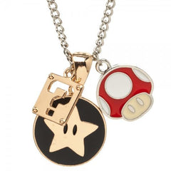Nintendo Super Mario Charm Necklace - Masters Of Geek