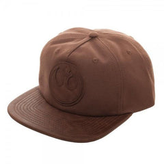Rebel PU Leather Patch Wax Canvas Snapback