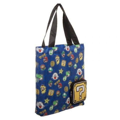 Super Mario Brothers Packable Tote - Masters Of Geek
