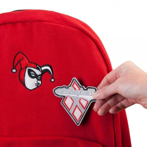 DC Comics Harley Quinn DIY Patch It Backpack - Masters Of Geek