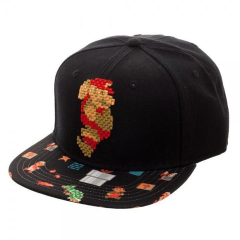 Mario 8Bit Sublimated Bill Snapback - Masters Of Geek