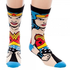 DC Comics Wonder Woman 360 Crew Socks - Masters Of Geek