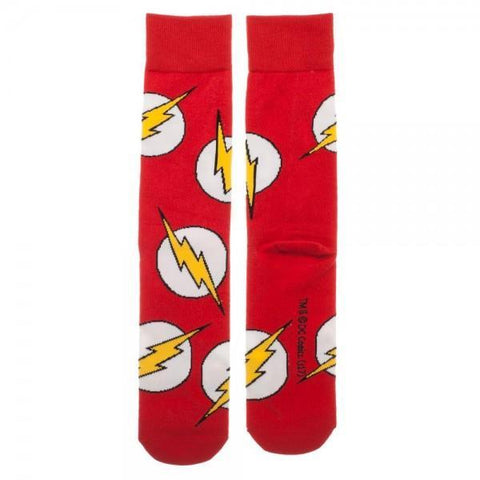 DC Comics Flash Large All over Print Crew Socks - Masters Of Geek