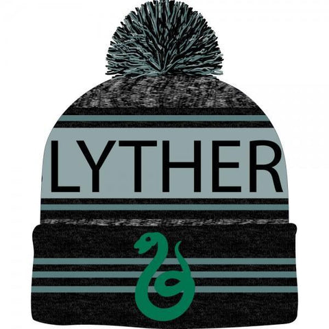 Harry Potter Black Green Teal Marled Pom Beanie - Masters Of Geek