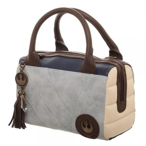 Rey Canvas and PU Leather Dotty Satchel - Masters Of Geek