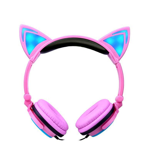 Cat Ear Gaming Headphones with LED lights - Masters Of Geek