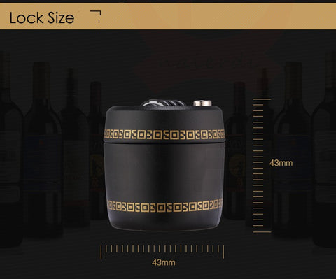 Combination Lock For Wine And Liquor Bottles - Masters Of Geek