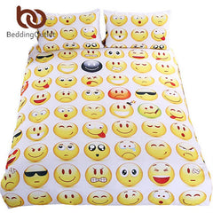 Emoji Bedding Set  3Pcs Twin Full Queen King - Masters Of Geek