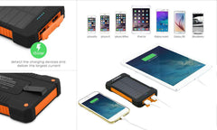 Phone Charger 10000mAh Dual USB Solar External Battery Power Bank