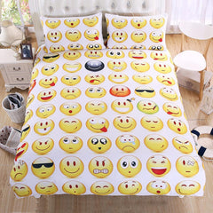 Emoji Bedding Set  3Pcs Twin Full Queen King