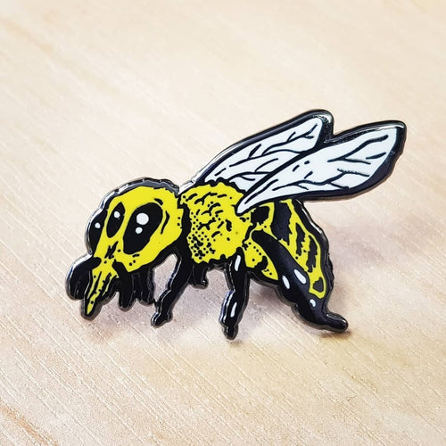 Hot Wax Zom-Bee - Custom Hard Enamel Pin Badge