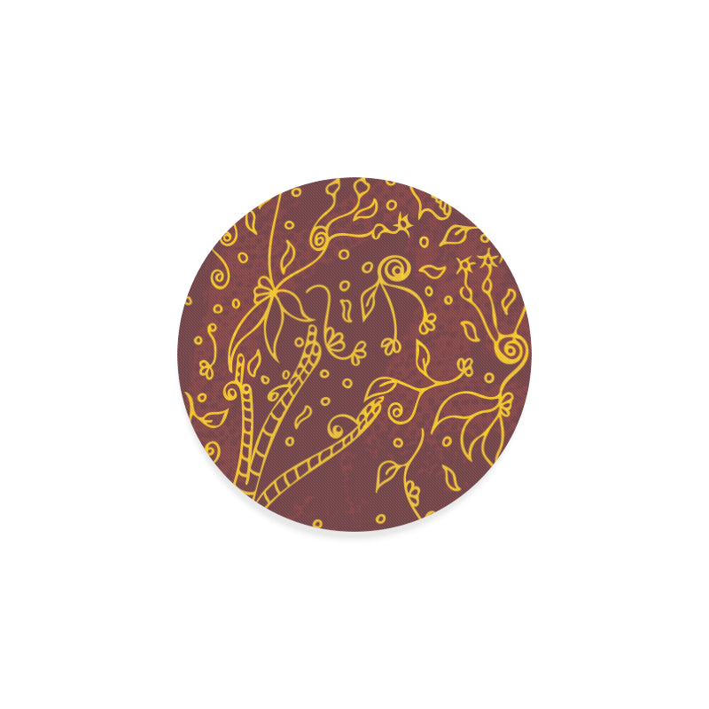Fading Golden Music Round Coaster-Geckojoy